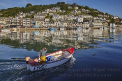 Looe in early morning sunlight.