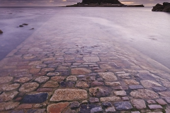 A dusk view of St Michael's Mount.