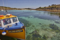 An inter-island ferry at St Agnes, Isles of Scilly.
