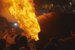 Ottery Tar Barrels, Ottery St Mary, Devon, Great Britain. 4th Nov 2017.