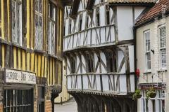 Medieval buildings in Axbridge, Somerset, Great Britain.