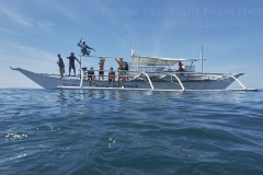 Looking for whale sharks, off Donsol, Sorsogon, Luzon, Philippines.