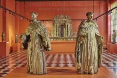 Hispanic religious statuary, in the National Museum, Manila, Philippines.