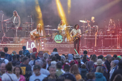 Band playing at Camp Bestival 2021. 31 July 2021. Lulworth, Dorset, Great Britain.