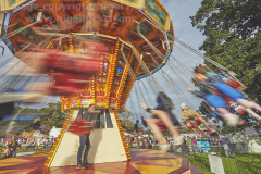 Merry-go-round at Camp Bestival 2021. 31st July 2021. Lulworth, Dorset, Great Britain.