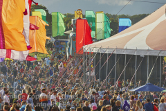 Crowd at Camp Bestival 2021. 31st July 2021. Lulworth, Dorset, Great Britain.