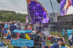 Band playing at Camp Bestival 2021. 31st July 2021. Lulworth, Dorset, Great Britain.