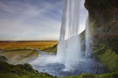 Seljalandsfoss Falls, near Vik, Iceland.