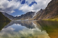 The volcano crater lake, on Mt Pinatubo, Zambales, Luzon, the Philippines.