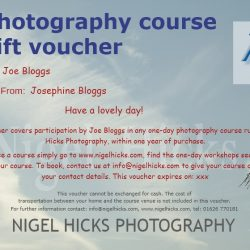 Gift voucher scheduled course