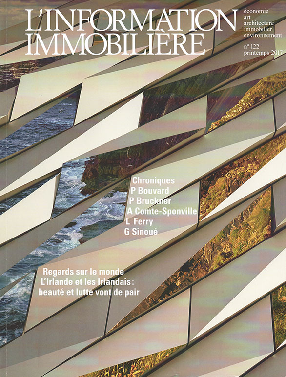 Writing and photography for magazines and newspapers: L'Information Immobiliere magazine cover