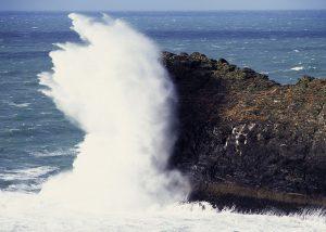 Storm wave Atlantic seascape greetings card