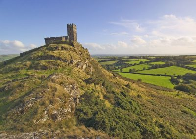 Brent Tor moorland landscape greetings card