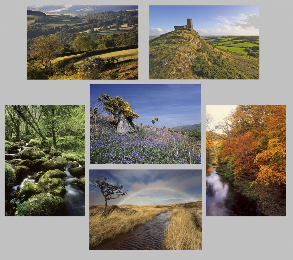 Buy greetings cards. Dartmoor landscapes multicard pack