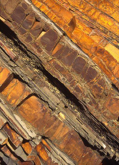 Diagonal rock pattern greetings card