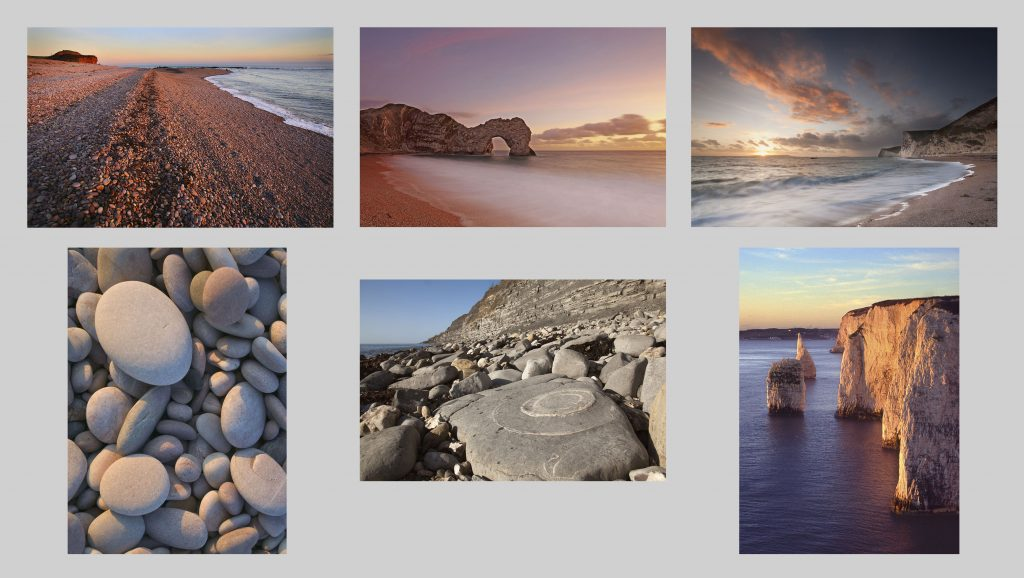 Buy greetings cards. Jurassic Coast landscapes multicard pack
