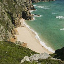 Rugged cliffs coastal landscape greetings card