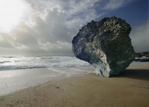 Shoreline rock landscape greetings card