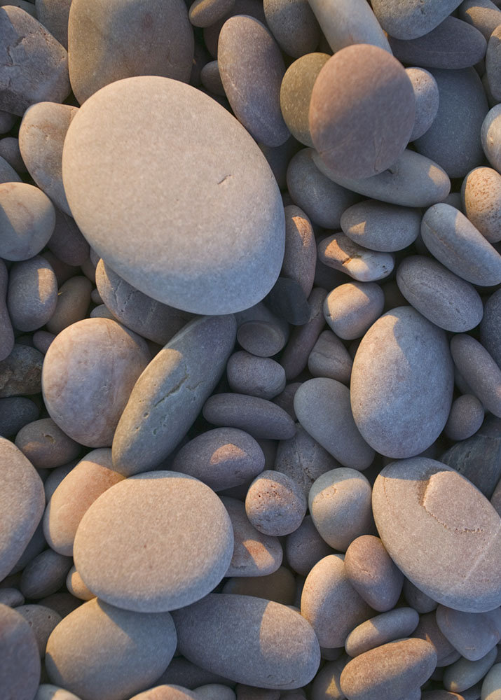 Beach pebbles close-up greetings card