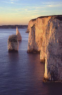 Sunrise cliffs landscape