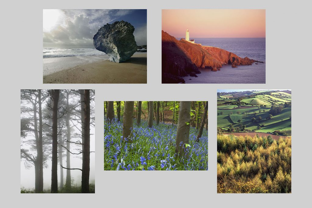 South Devon landscapes multicard pack. Buy greetings cards.