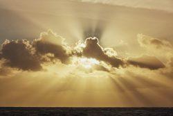 Sunrays at Sunset