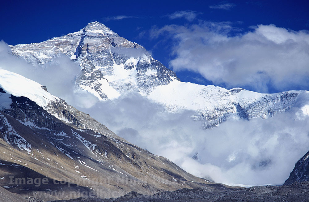 Mt Everest, one image in Nigel Hicks's Goals in Photography talk.