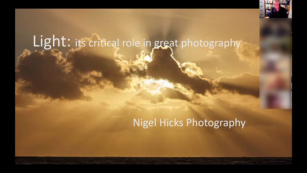 The role of light in photography.