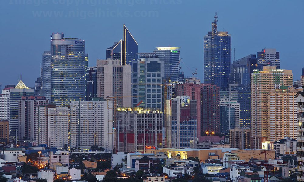 Makati skyline, Manila, the Philippines.