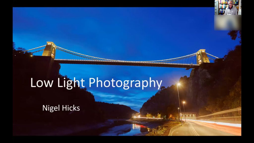 March 2021 Nigel Hicks Photography news. Low Light Photography talk.